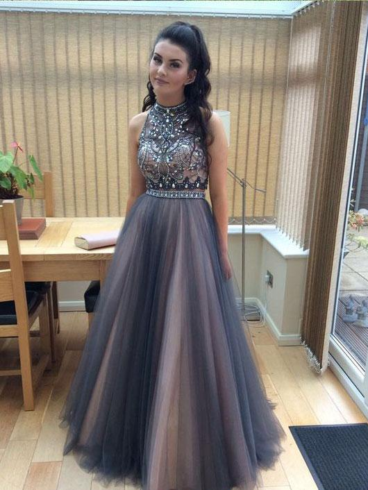 6f515e60b06 Two Piece Prom Dress Tulle